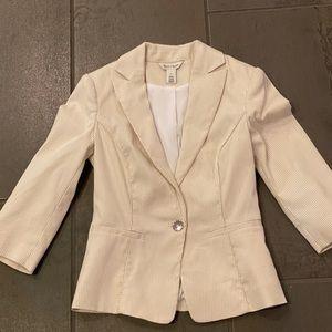 White House Black Market White/Beige Blazer Jacket